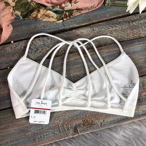 Free People Intimates & Sleepwear - Free People White Strappy Back Bralette NWT Sz M/L